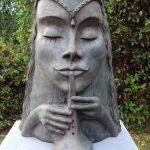 Bronzen beeld 'Barbra' +- 100 cm hoogte